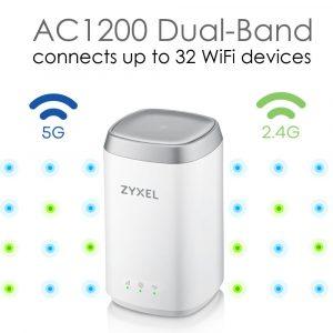 Zyxel AC1200 Routeur 4G LTE Dual Band