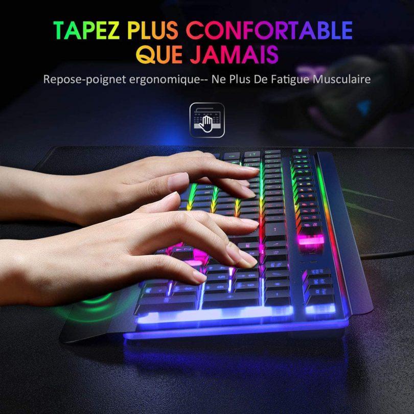 Clavier Gamer rétro-éclairé